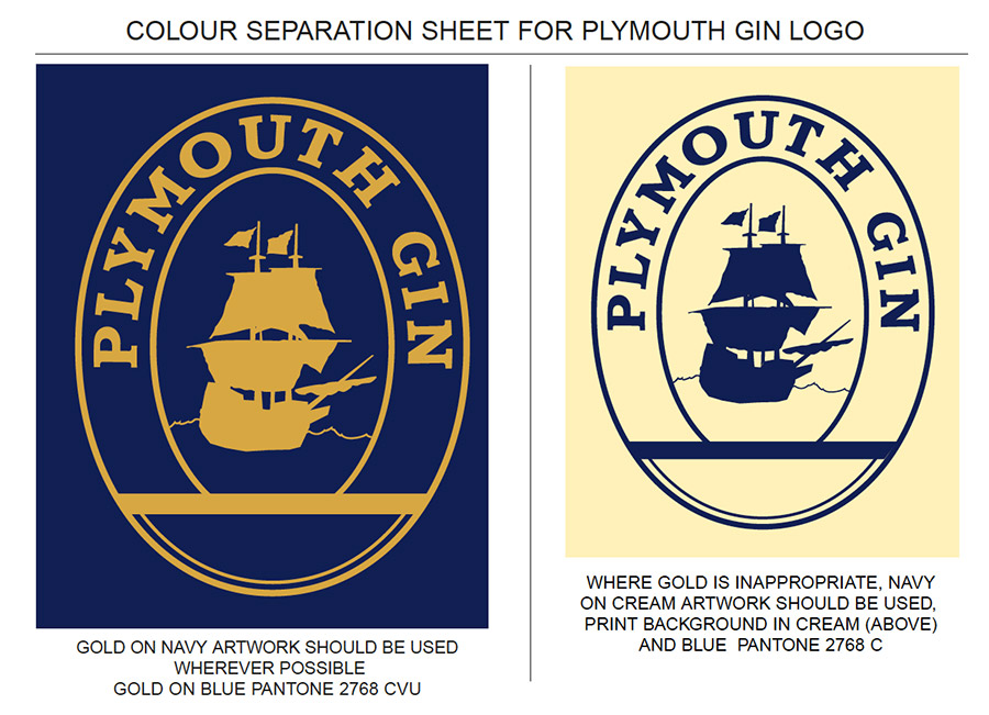 Plymouth Gin bottle label re-design.